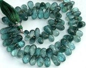 New Stock,8 Inch Long Strand,Truly Unique AAA QUALITY, Moss Aquamarine Micro Faceted Drops Shaped Briolettes, 8-11MM ,Great Item as Listed,