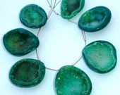 FOCAL CAVES, Full Strand, Amazing Rare GREEN Druzy Cave Briolettes, aaa Quality,Both Size Polished, 20-25mm Size,Great Item