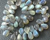 215 Cts Strand, Extremely Blue Flashy Labradorite Smooth Pear Shape Briolettes, 11-12mm Long,Great Quality at Wholesale Price .