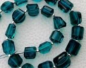New Arrival, FULL Strand, PARAIBA BLUE Quartz Quartz Faceted Nuggets Shape Briolettes, 10-12mm size,Superb Item at Low Price