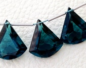 New Arrival 3 Pieces Set AAA LONDON BLUE Quartz Faceted Fancy shaped Briolette,16-18mm Long, (Extremely Beautiful set