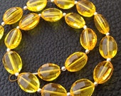 8 Inch Full Strand, Amaazing YELLOW Quartz Faceted Ovals Nuggets, 9-12mm size,Finest Cut and Polished