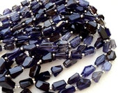 15 Inch Long Strand, AAA Quality Water Sapphire IOLITE Faceted Nuggets, 10-12mm Long size,GORGEOUS