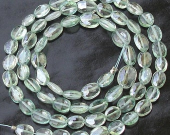 Gorgeous Quality Full 8 Inch Long Strand, 6-8MM, Stunning MYSTIC GREEN Topaz Faceted Oval NUGGETS,Best Quality