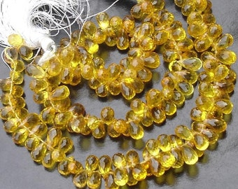 40 Pcs of Extremely Beautiful YELLOW QUARTZ, 6-7mm Long, Amazing Item at Low Price