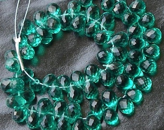 25 Pcs of Extremely Beautiful Rare Colour EMERALD GREEN QUARTZ, 7-8mm Long, Great Item Item