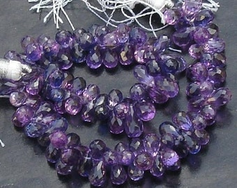 40 Pcs of Extremely Beautiful BI-SHADED KUNZITE (Corundum) Quartz, 6-7mm Long, Prettier than Sapphire ,Great Item at Low Price