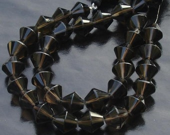 Smoky Quartz Smooth Fancy Shape Beads Strand, 18 Pieces of, 11mm Aprx, New Shape,Great Price
