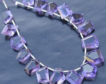 AAA Quality, Special Faceted Fancy Cut Shaped Briolettes, Purple AMETHYST, 9-13mm Long size,GORGEOUS