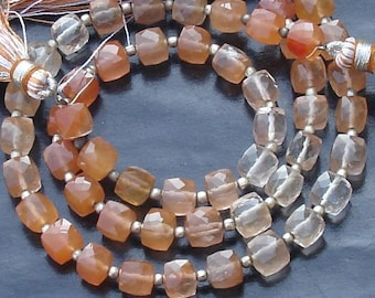 AAA Quality, 8 Inch Long Strand, COPPER Rutile Faceted 3D Box Briolettes, Aprx. 6mm Size,GORGEOUS Item
