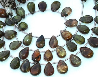 New Arrival, 1/2 Strand Rare ANDULASITE Smooth Pear Shape Briolettes, 9-11mm Larger Size,Great Price