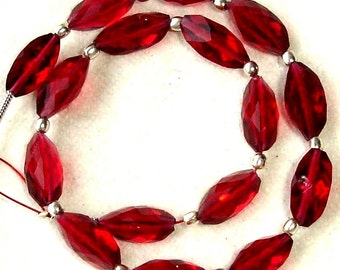 New Arrival,8 Inch Long Strand, RUBY RED QUARTZ Faceted Cardamom Fancy Shaped Briolettes,12mm Long,Great Price Amazing Item