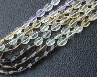 8 Inch Long Strand,Superb-MULTI STONE Faceted Oval Shape Briolettes,7-9mm size,Superb Item