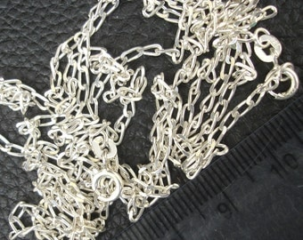 15 Inch Silver Chain.2mm Size ,925 Sterling Silver,Jewellery Making Findings, Superb Finished Pieces.