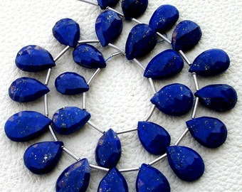 11 Inch Strand, Lapis Lazuli Faceted Pear Briolettes,(Size 12-16mm approx),Great Quality at Low Price