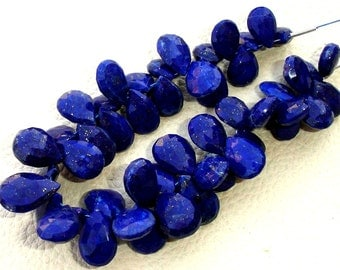 6 Inch Full Strand, Lapis Lazuli Faceted Pear Briolettes,(Size 10-12mm approx),Great Quality at Low Price