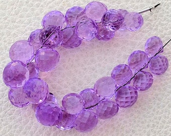 Full 8 Inch Long Strand, LAVENDAR Pink Quartz Micro Faceted Onions Shape Briolettes,7-8mm size,Superb Item at Low Price
