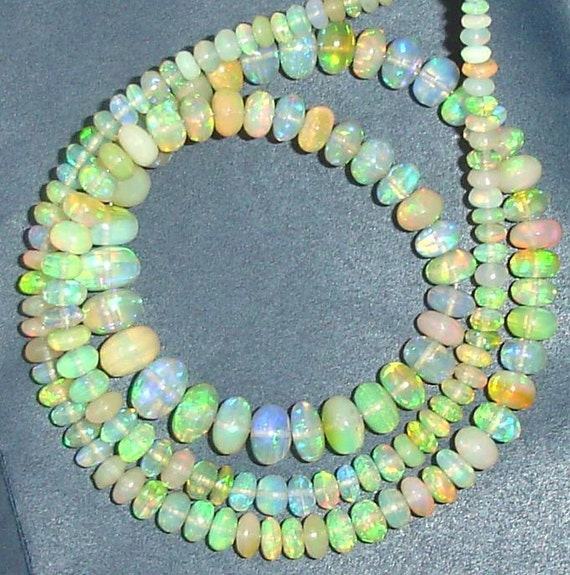 Finest-Superb-GIANT of WELO Ethiopian Opal Smooth Rondells, 3-5mm, Full 14 Inch Strand, Amazing Inside Fire Finest Quality