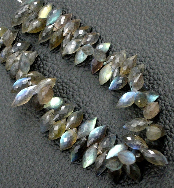 6 Inch Strand,very,Finest Quality,Blue flashy Labradorite Micro faceted Dew Drops,11-12mm aprx.
