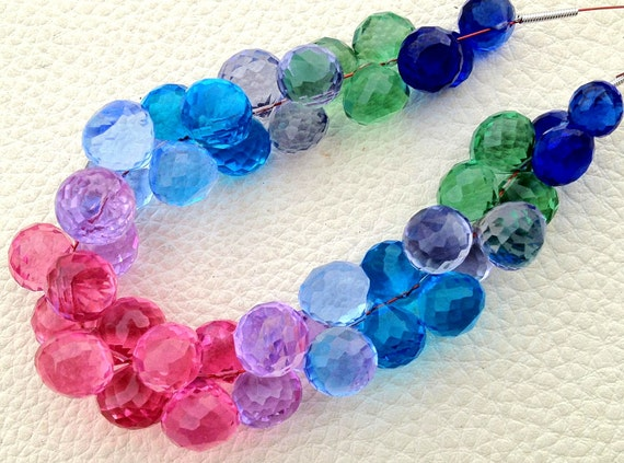 New Arrival, FULL Strand, MULTI COLORS Quartz Micro Faceted Onions Shape Briolettes,8-10mm size,Superb Item at Low Price