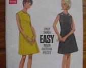 Vintage Butterick Pattern Misses Dress Size 10