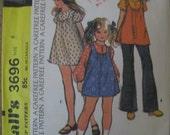 UNCUT Vintage McCalls Pattern 3696 Child's Girls DRESS or TOP Size 6
