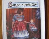 UNCUT Daisy Kingdom Simplicity Pattern Girls Dress Pinafore and Doll Dress Size 3 4 5 6