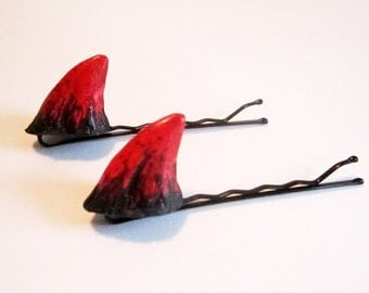 Little Devil Horn Prosthesis Bobby Pin Pair