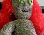 Zombie Sock Monkey OOAK