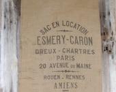 RESERVED FOR THOWFEEK -  2 Paris Burlap Grain Sacks - Thank you
