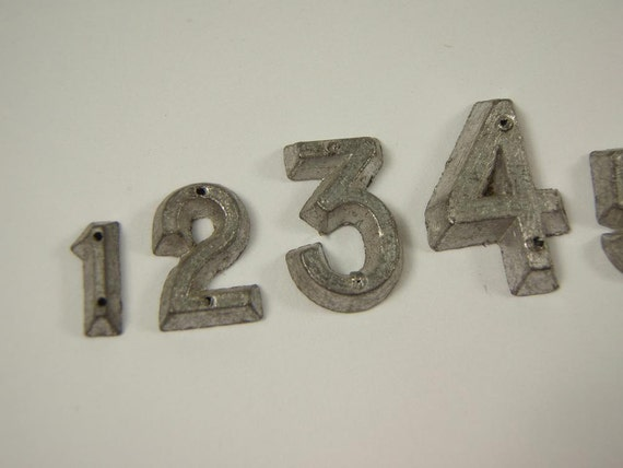 Reserved for Kathleen Thank You Vintage French METAL Numbers 1 to 9