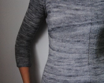 IRIDIUM Sweater Knitting Pattern PDF