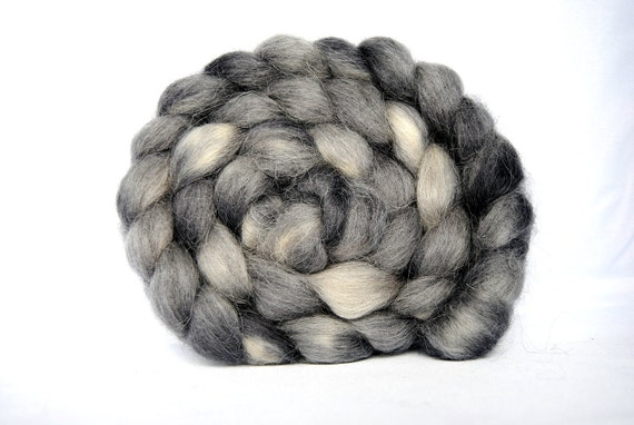 NOCTURNE Hand-Dyed Devon Combed Top/Roving-4 ounces