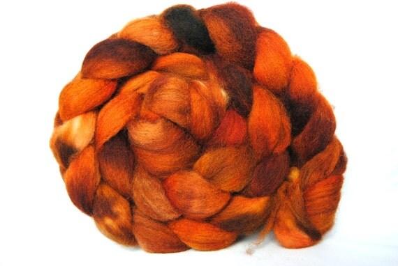 SAFFRON Hand-Dyed Falkland Combed Top/Roving-4 ounces