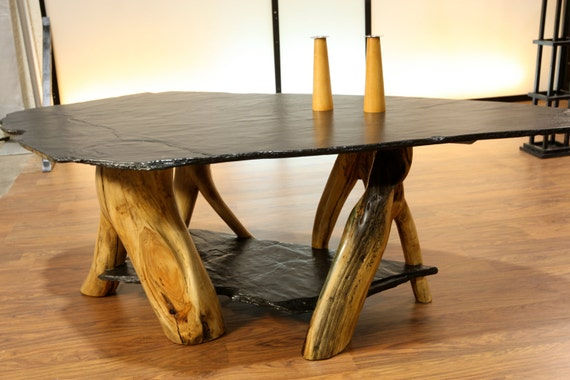 Slate And Aspen Coffee Table