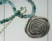 Spiral Mandala with Kyanite Necklace