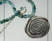 Spiral Mandala with Kyanite Necklace