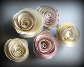 Paper Rose Magnets - Ivory Tones - Robot In Bloom