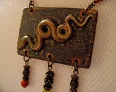 Ancient Knowledge Necklace - Mythical, Esoteric, Bohemian, Primal