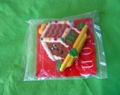 RESERVED // vintage AVON gingerbread house magnet - new in package