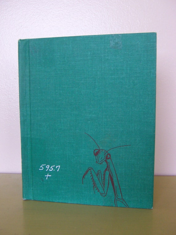 Praying Mantis - Olive L. Earle - 1969 vintage hardcover book - green fabric cover