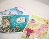 Art Reproduction 5x7 - Set of three of your choice