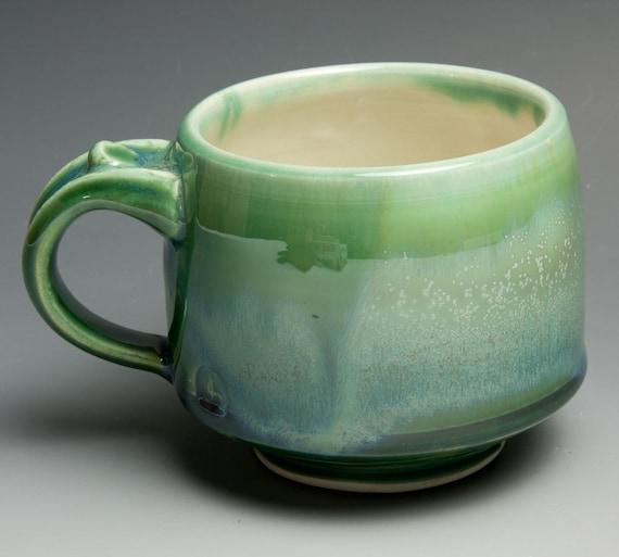 Porcelain jade green coffee mug or tea cup - 402
