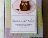 Baby Personalized Keepsake Memory Box - Owl / Animal Themed