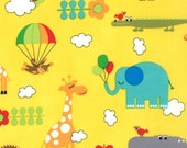 PRE ORDER - Bungle Jungle (July)  - Critters in Yellow - SKU 39501 17 - by Tim and Beck for Moda Fabrics - 1 Yard