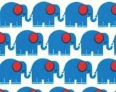 PRE ORDER - Bungle Jungle (July)  - Elephants in Blue - SKU 39502 15 - by Tim and Beck for Moda Fabrics - 1 Yard