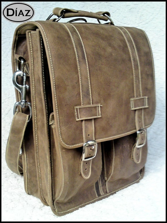 SALE 30% OFF + Free Shipping, Black Friday, Cyber Monday, Christmas, Leather Messenger Satchel Backpack Texas Brown, 17in MacBook Pro Laptop