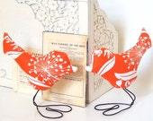 Cake Topper, Modern Orange Flower Garden Love Bird Wedding Cake Toppers and Home Decor, Summer Wedding, Wedding Gift