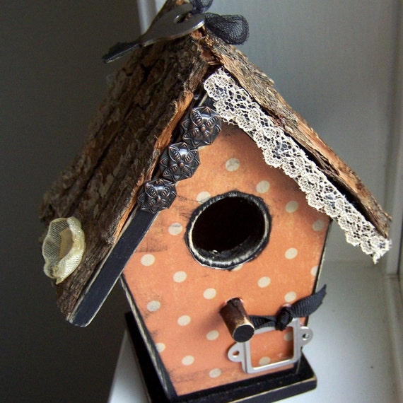 Reserved for DiJC3  Vintage Lace Fall Bird House
