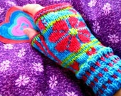 I want to live with flowers in my hands,  ORIGINAL PDF KNITTING PATTERN